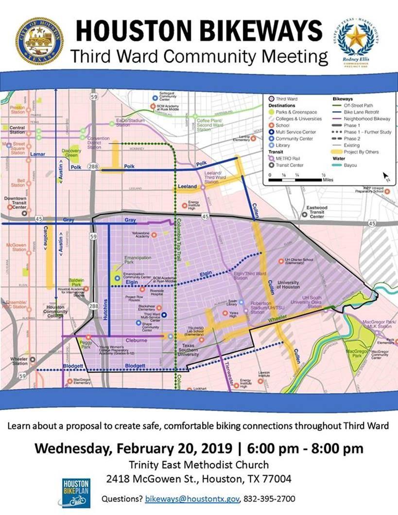 Houston Bikeways Third Ward Community Meeting Houston Southeast
